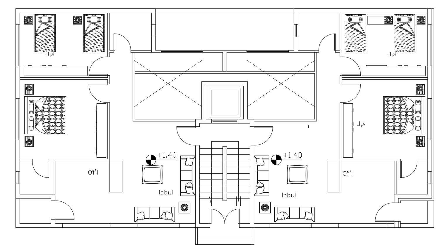 2 Bedroom Apartment Floor Plan Dwg File Cadbull