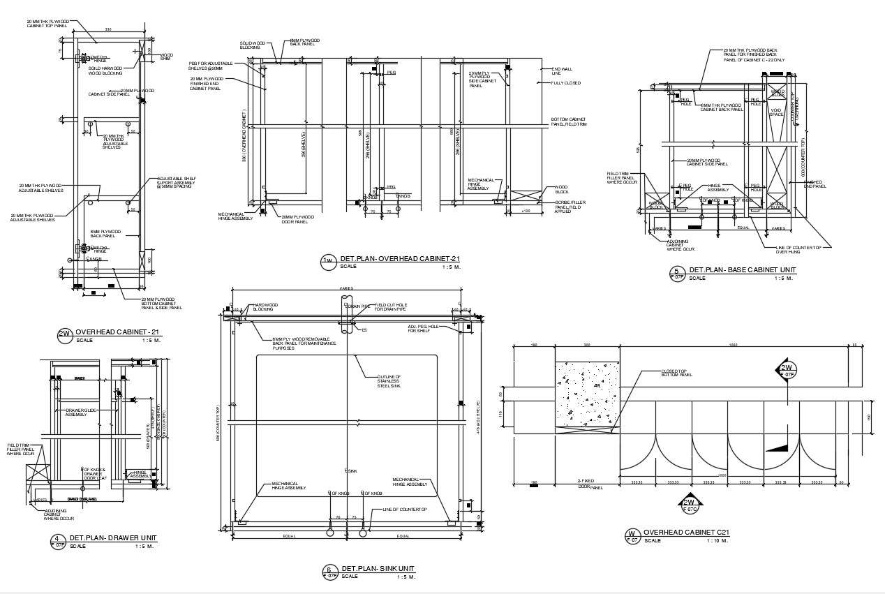 2d Cad Drawing Kitchen Cabinet Construction Design Autocad File Cadbull