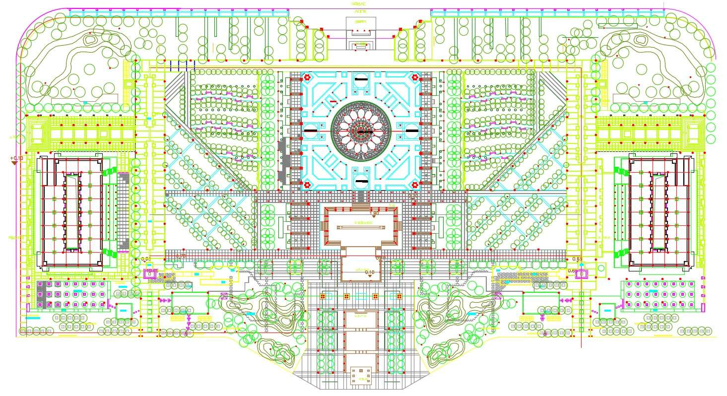 2d Drawing Of Master Plan Of Landscape Design Autocad File Cadbull