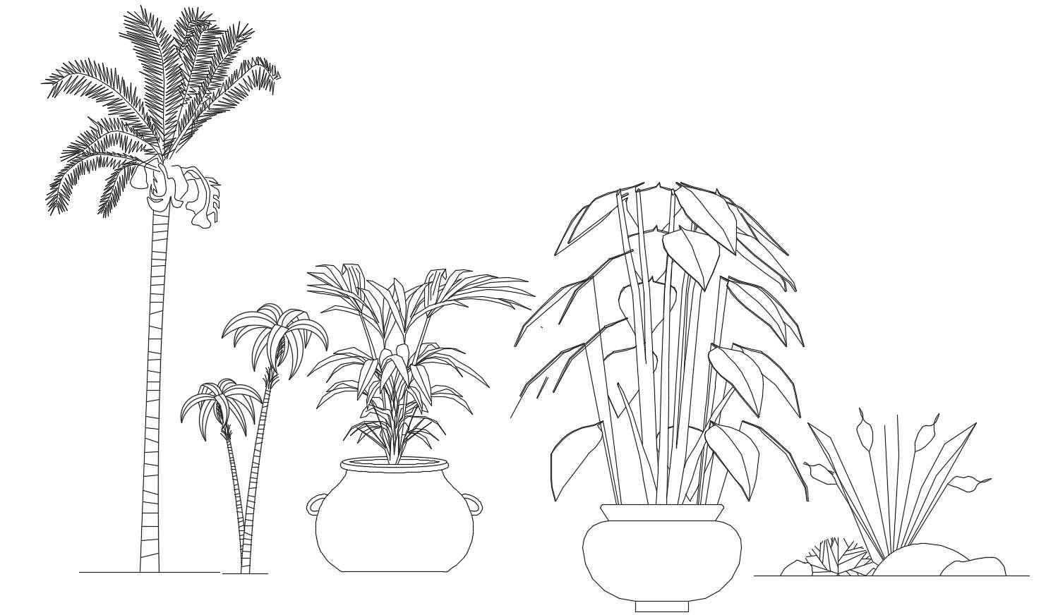 2d Landscape Blocks Elevation Design AutoCAD Drawing Free ...