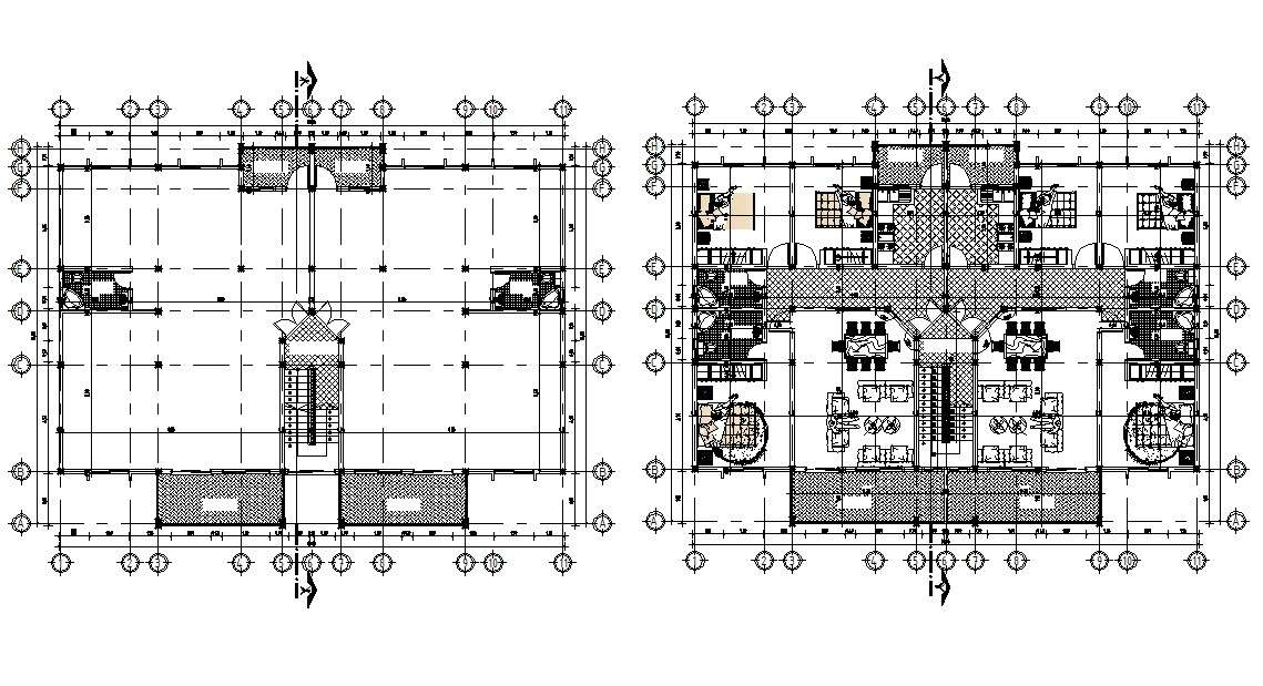 3 BHK  Apartment Floor Plan  With Working Drawing AutoCAD