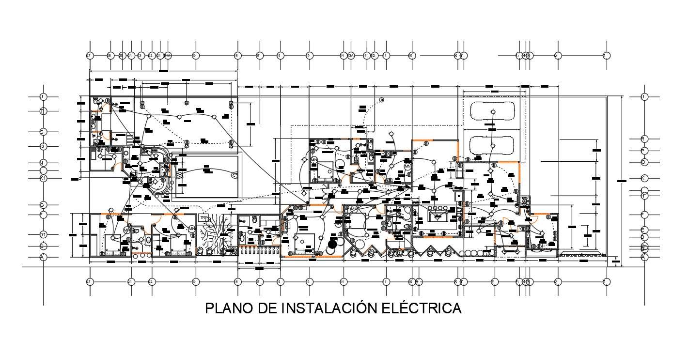 Autocad House Electrical Wiring Installation Plan Design Cadbull
