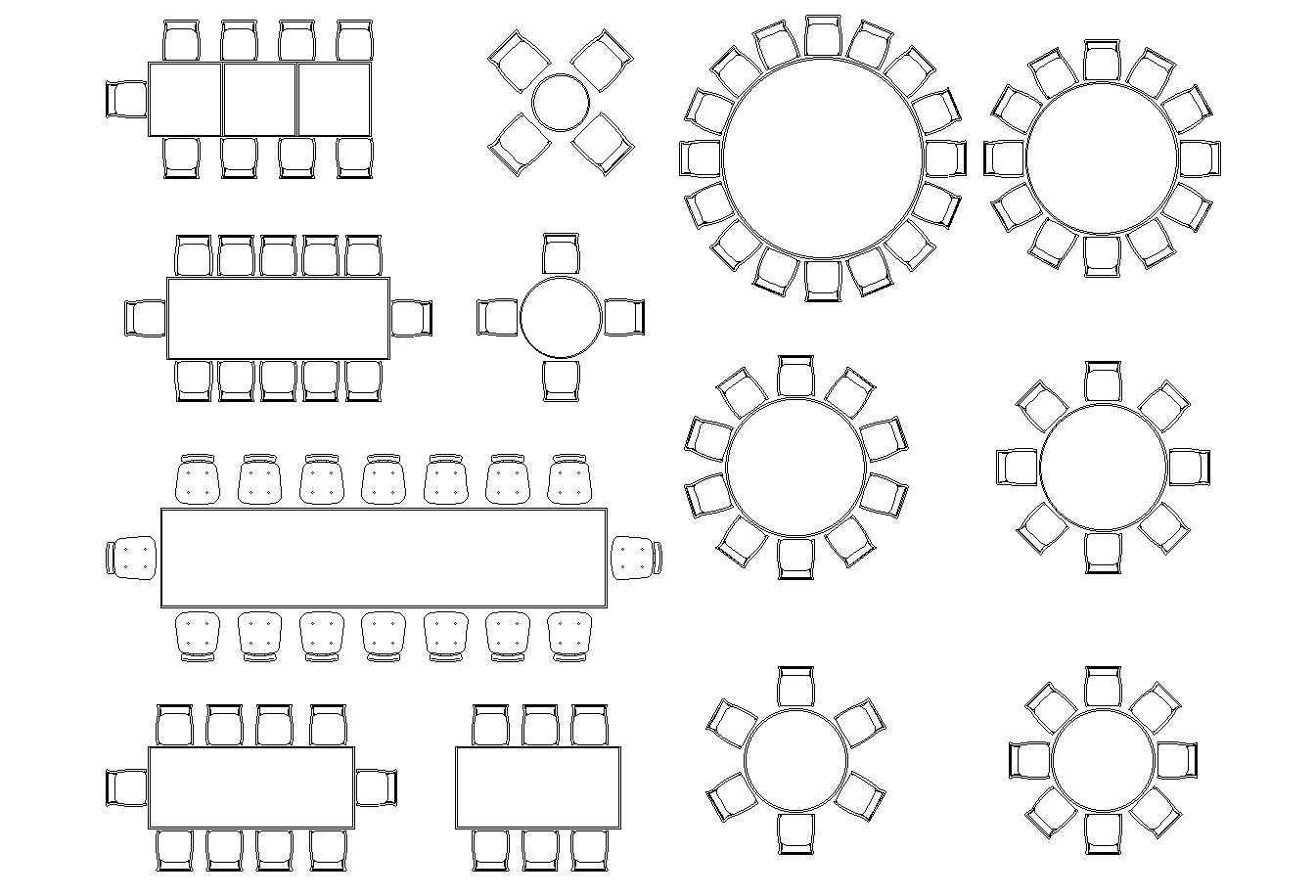 Banquet Hall Furniture Plan Detail Dwg Cadbull