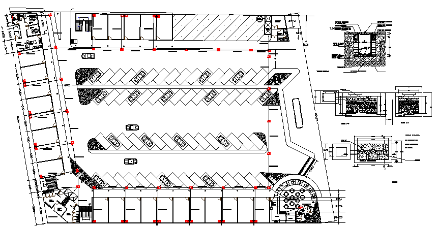 Basement Floor Plan Layout With Car Parking Of Shopping Center Dwg File Cadbull