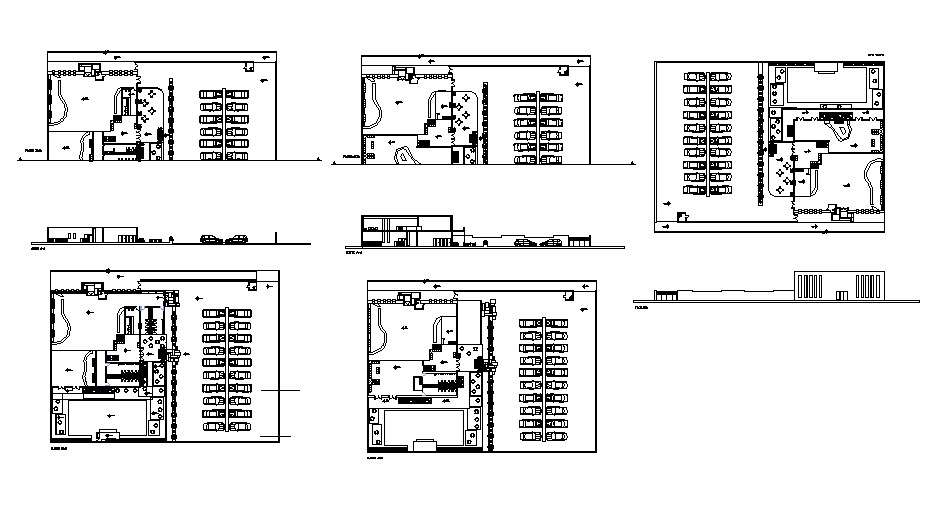 Bowling Sports Center Elevation Section And Plan Details Dwg File Cadbull