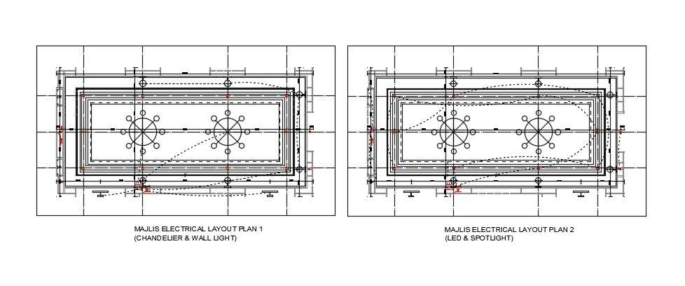 Ceiling Chandelier Light Layout Plan Design AutoCAD File ...