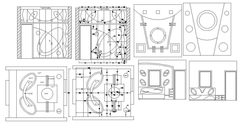Master Bedroom Ceiling Design In DWG File - Cadbull