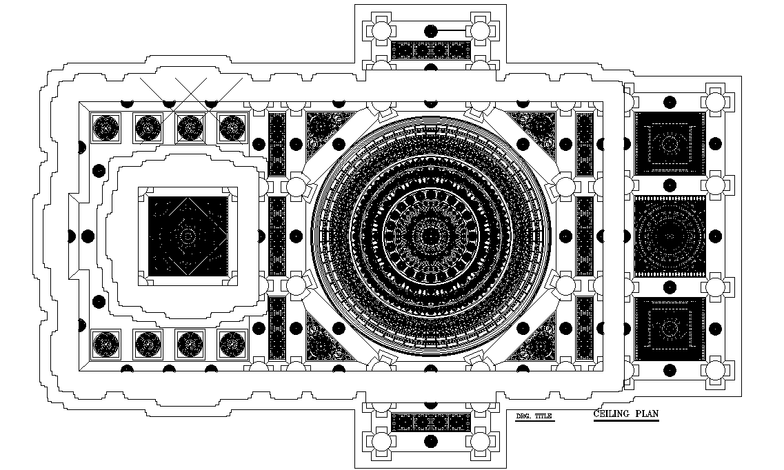 Ceiling plan detail drawing provided in this AutoCAD file ...
