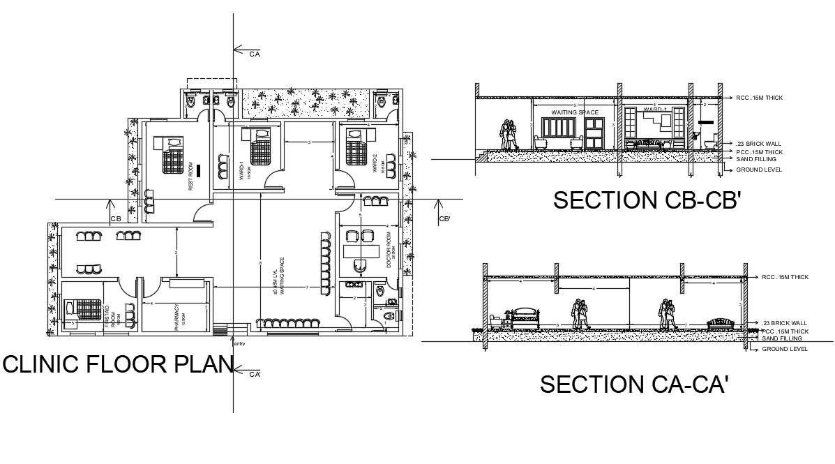 Clinic Floor Plan Cad File Download Cadbull