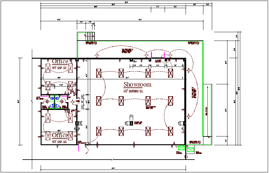 commercial building electrical plan layout details dwg file - cadbull  cadbull