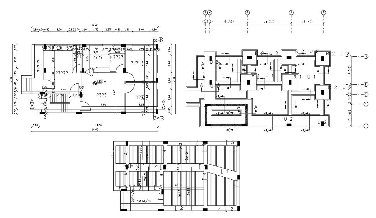 Construction House Working Plan Autocad Drawing Cadbull