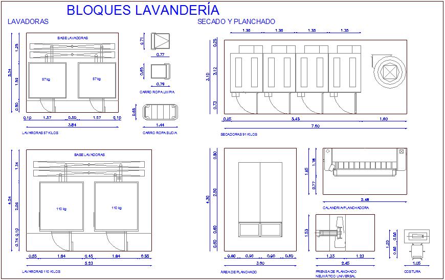 Design Of Laundry For Hospital Dwg File Cadbull