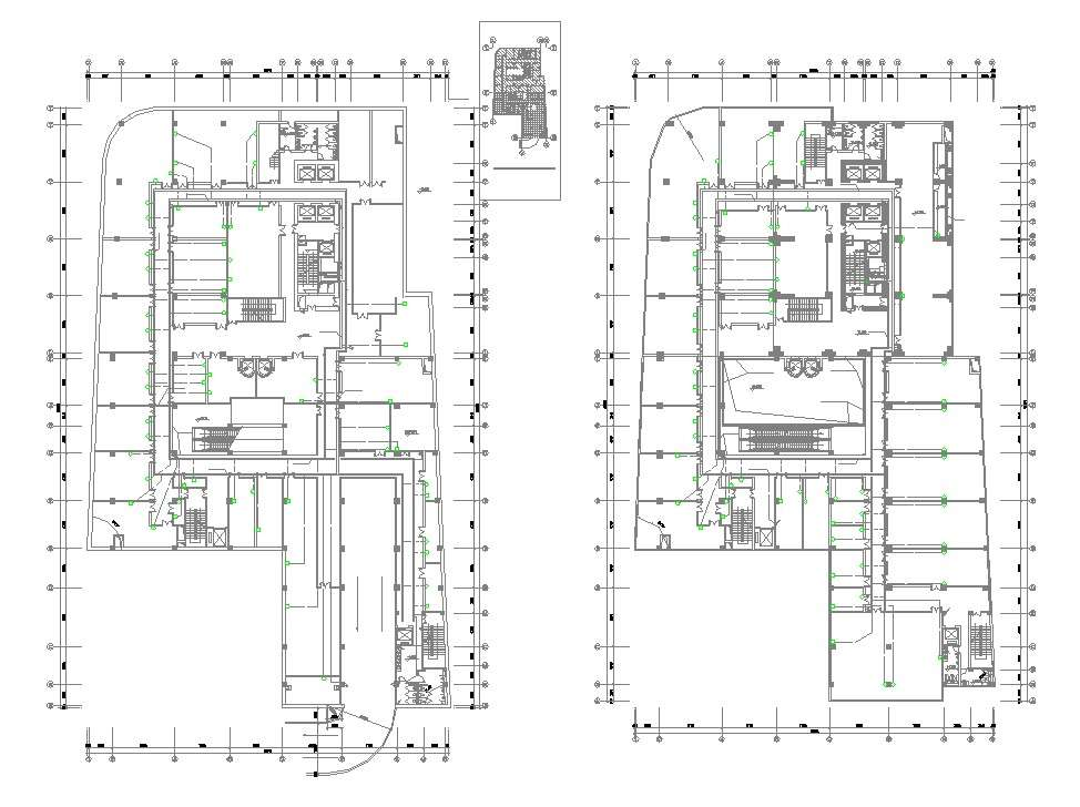 Download The Commercial Building Floor Plan With Working Drawing Autocad File Cadbull