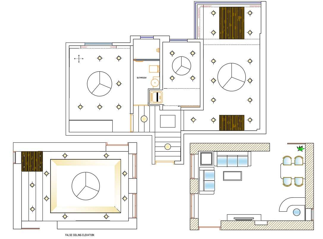 Drawing room Plan and Ceiling Design AutoCAD file download ...