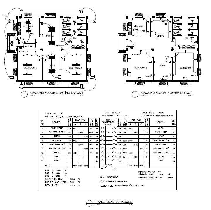 Electrical Layout Plan Of House Cadbull