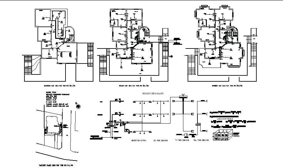 [DIAGRAM_38DE]  Electrical layout plan details of all floors of villa cad drawing details  dwg file - Cadbull | Villa Electrical Plan |  | Cadbull