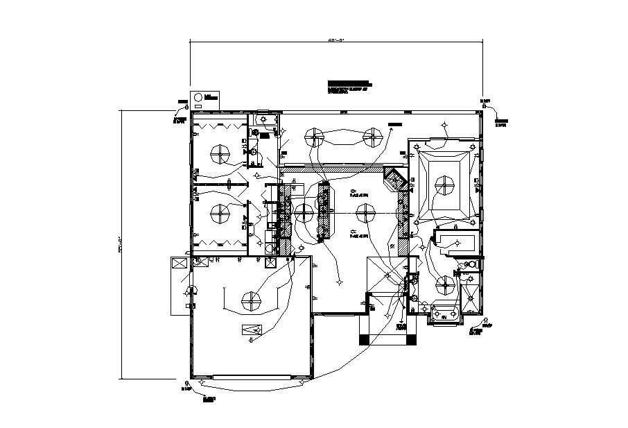 [SCHEMATICS_4CA]  Electrical layout plan details of country club villa house dwg file -  Cadbull | Villa Electrical Plan |  | Cadbull