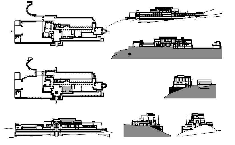 Ennis House Floor Plan Cadbull