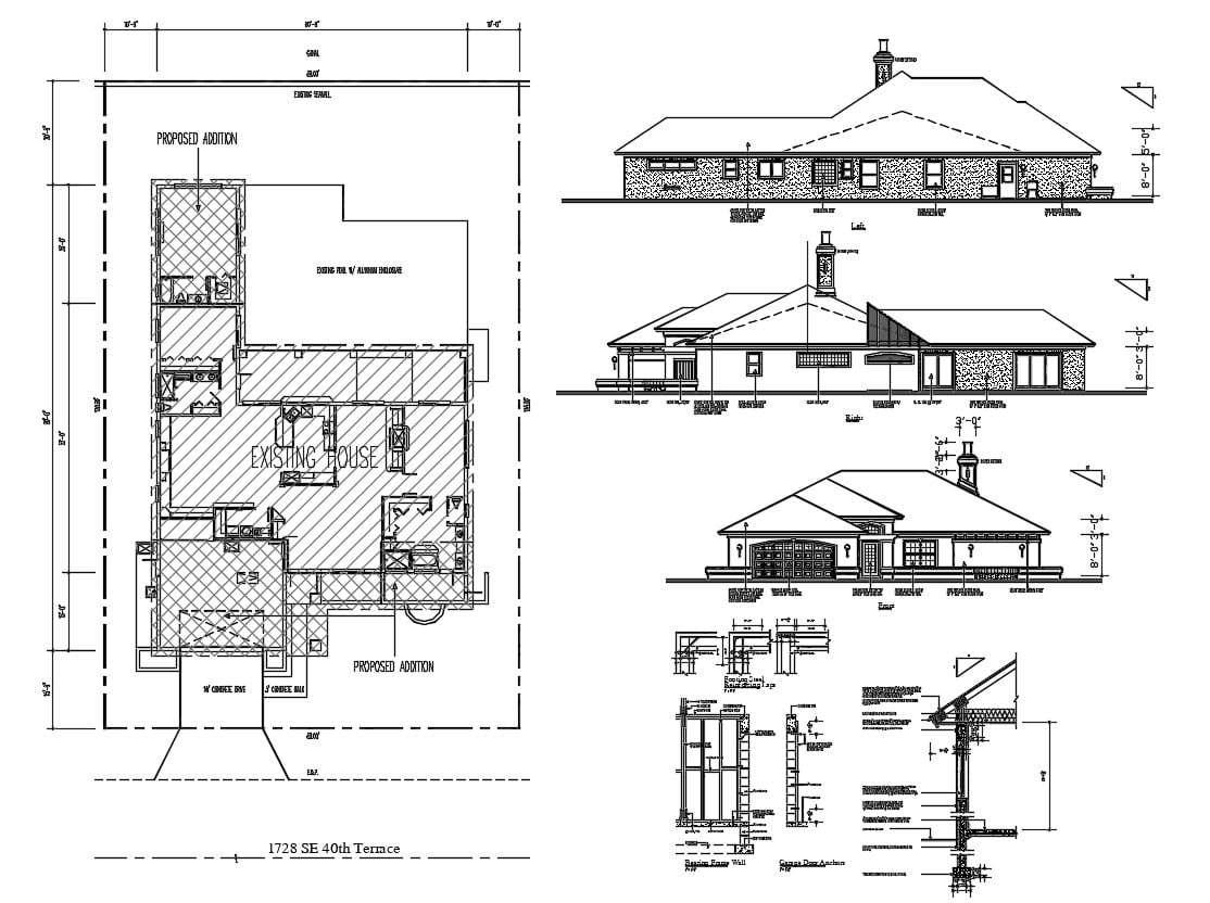 Exterior House Plan AutoCAD Drawing Thu Nov 2019 09 29 18