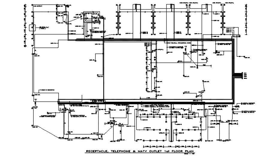 First Floor Ma Tv Outlet Diagram  Receptacle  Telephone