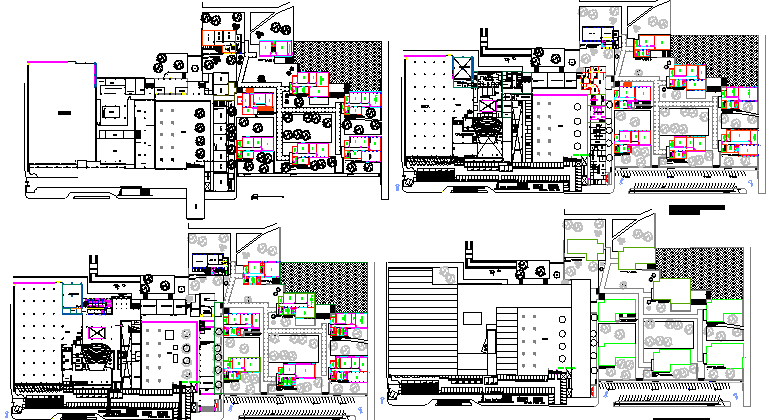Floor Plan Details Of College Architecture Project Dwg File Cadbull