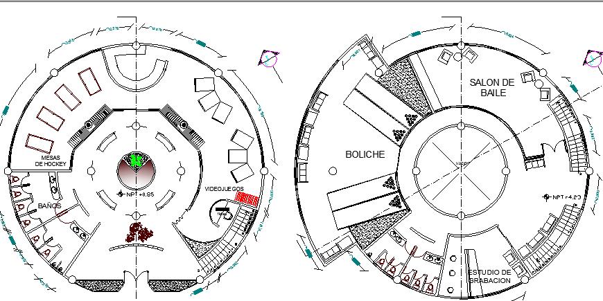 Floor Plan Of Beach Side Club House Design Dwg File Cadbull