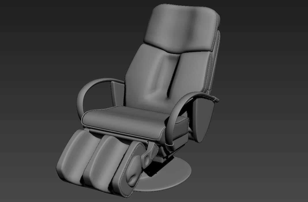 Foot Massage Chair 3ds Max File Free Download Cadbull