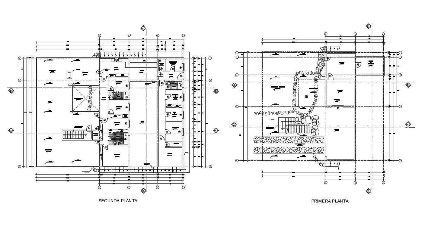 Free Download Dwg Drawing Residential Building Floor Plan Autocad File Cadbull