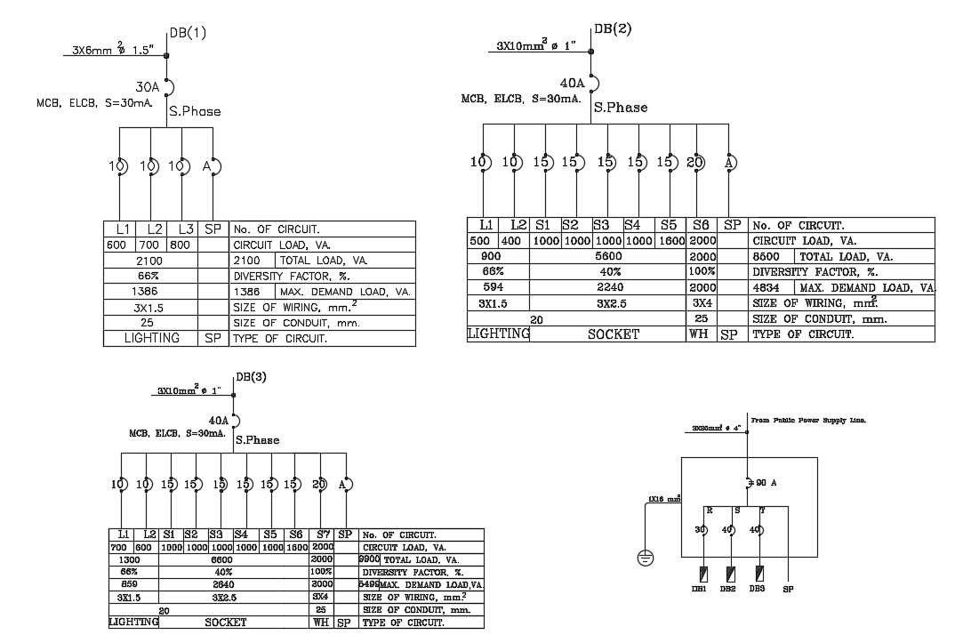 Free Download Meter Wiring Diagram drawing DWG File - Cadbull [ 723 x 1092 Pixel ]