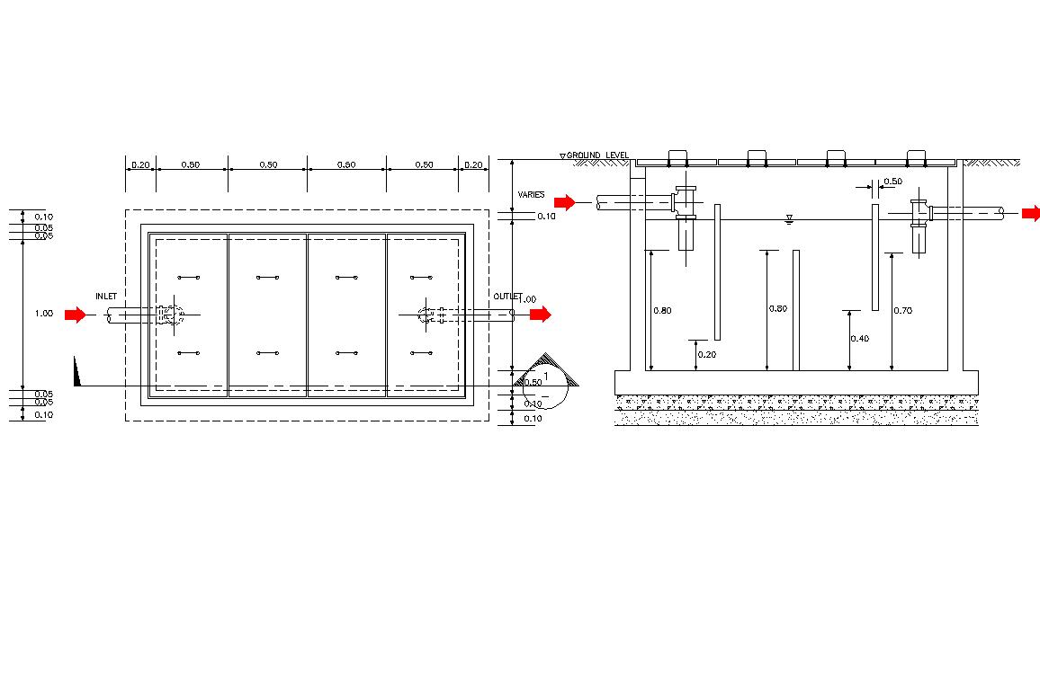 Grease Trap Pit Plan Detail Dwg File Cadbull