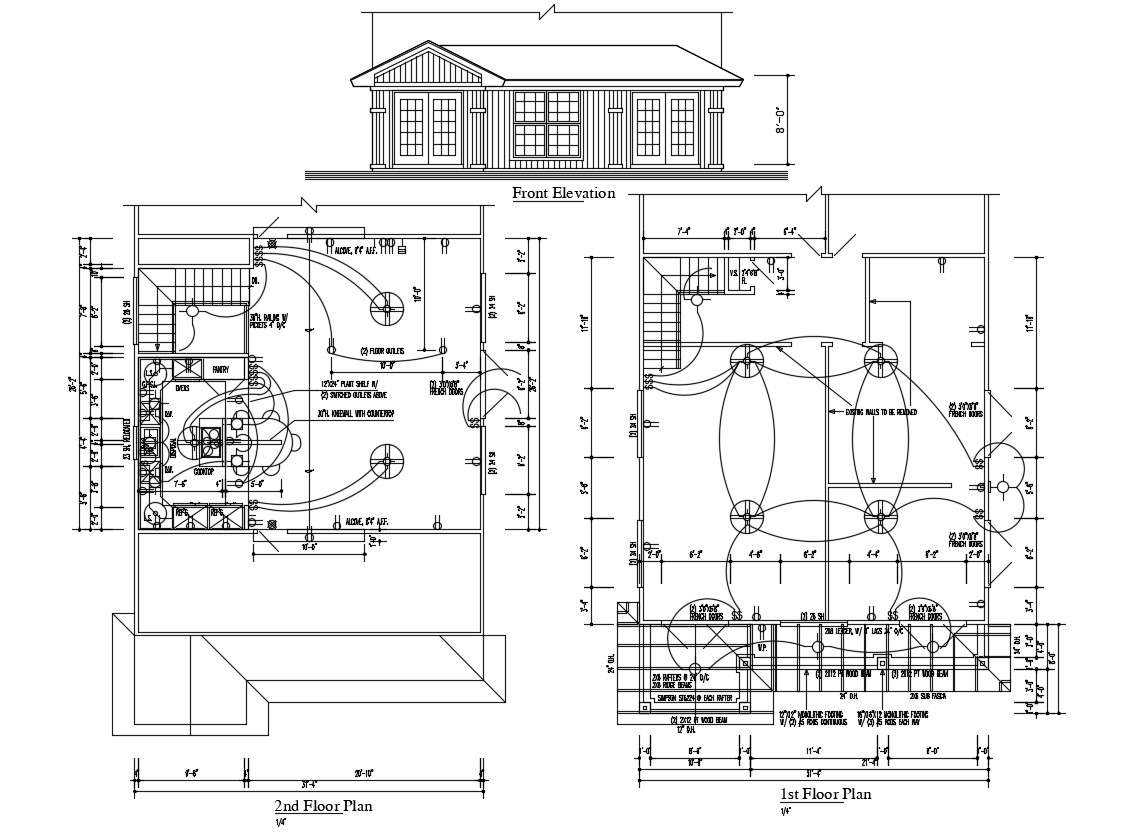 Home Electrical Wiring Design Plan Download Cadbull