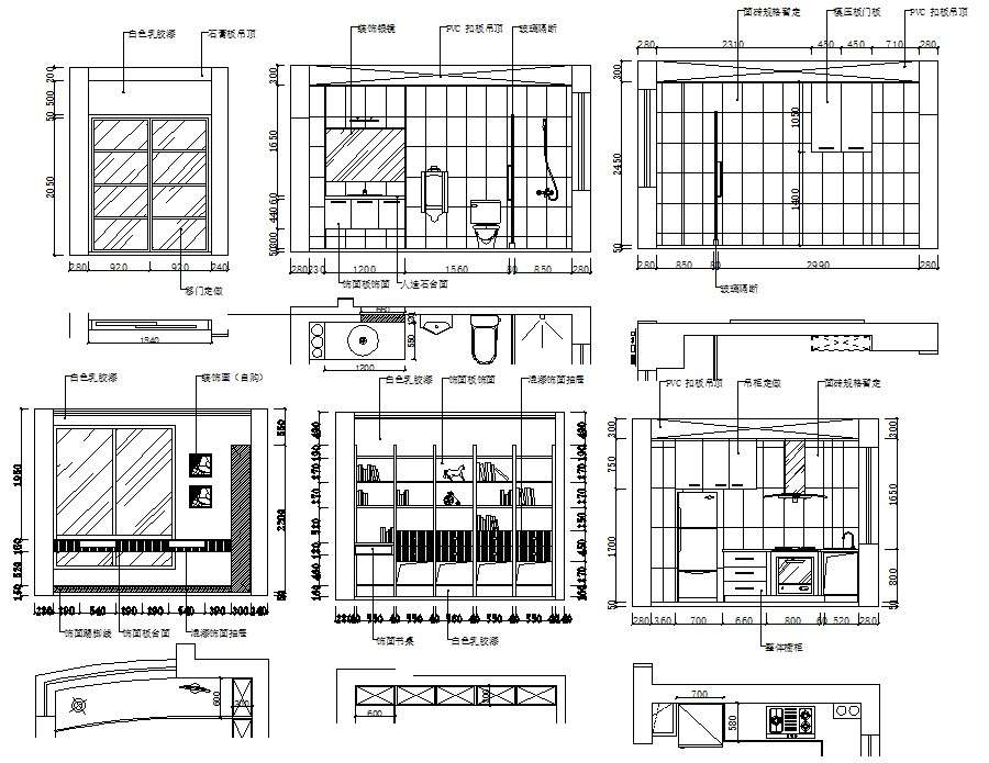 House Autocad Interior Design Drawings Cadbull