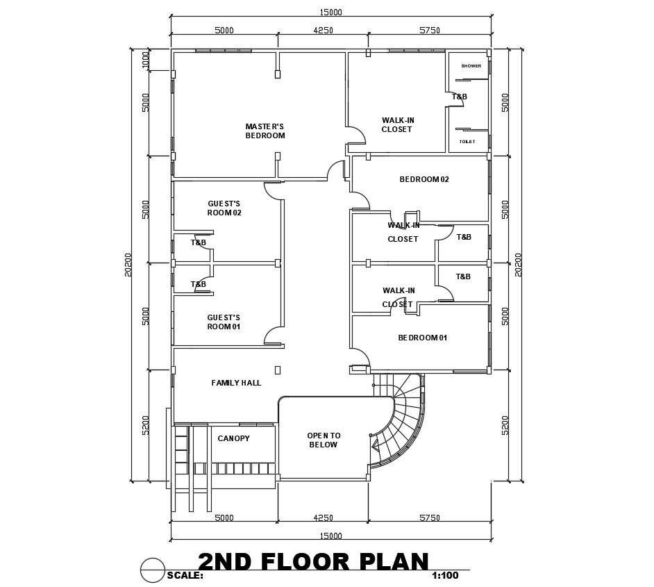 House Floor Plan With Dimensions Cadbull