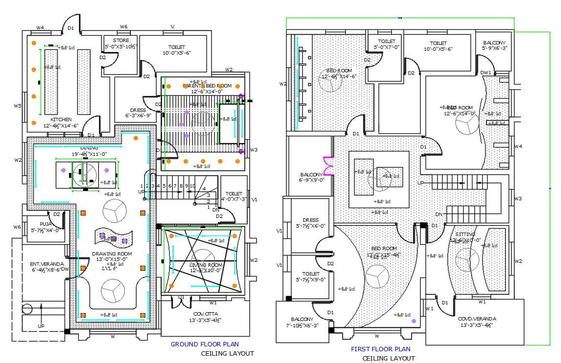 House False Ceiling Layout Plan AutoCAD Drawing DWG File ...