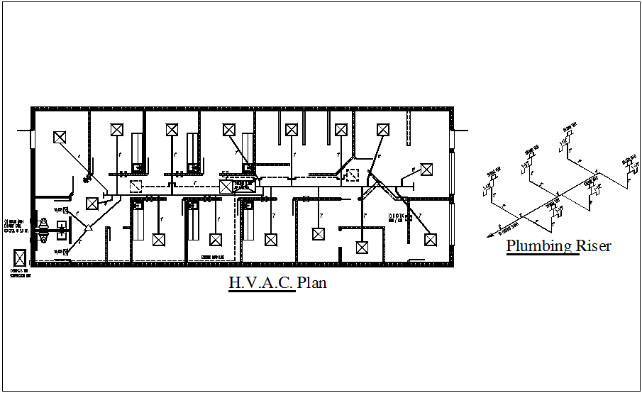 Isometric view of plumbing riser and HVAC plan dwg file - Cadbull | Hvac Isometric Drawing |  | Cadbull