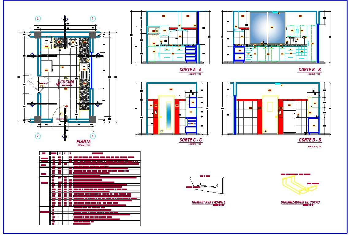 Kitchen Interiors Detail In Autocad Dwg Files Cadbull