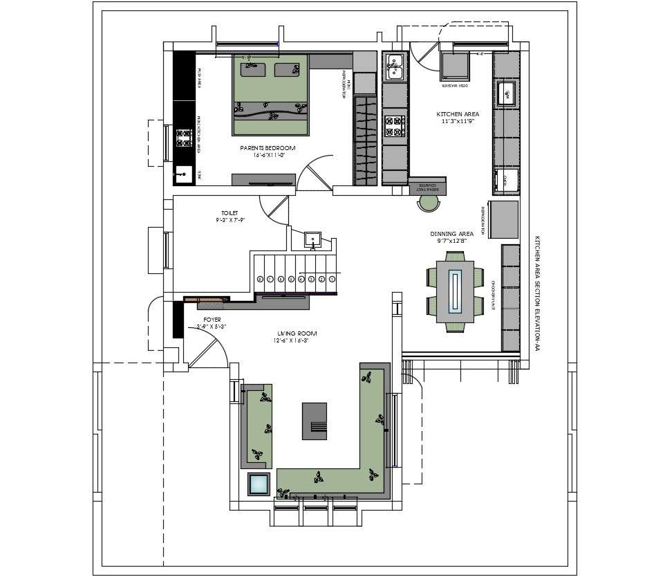 Living Room Furniture Layout Plan In Autocad File Cadbull