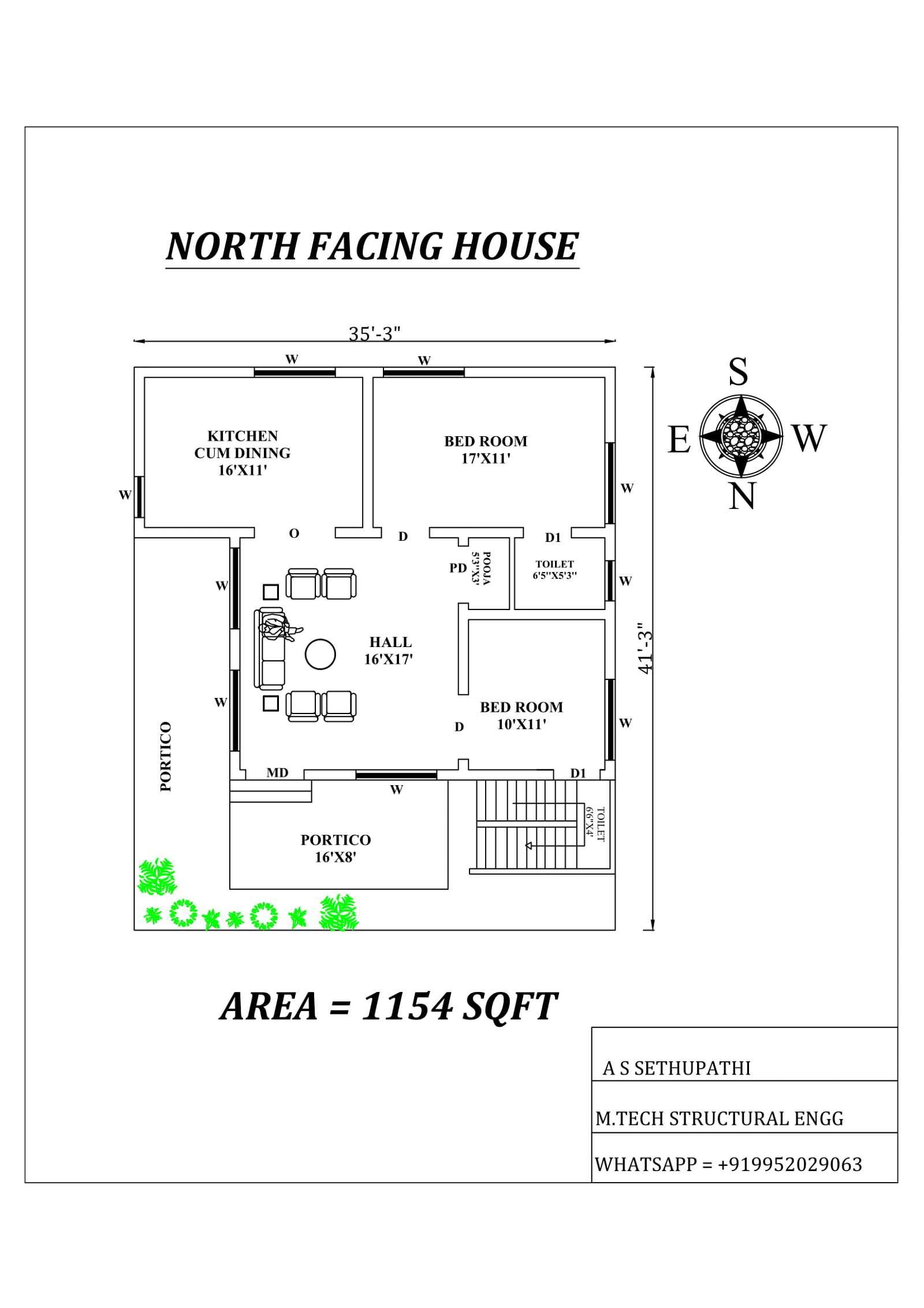 north facing house plan as per vastu shastra cadbull
