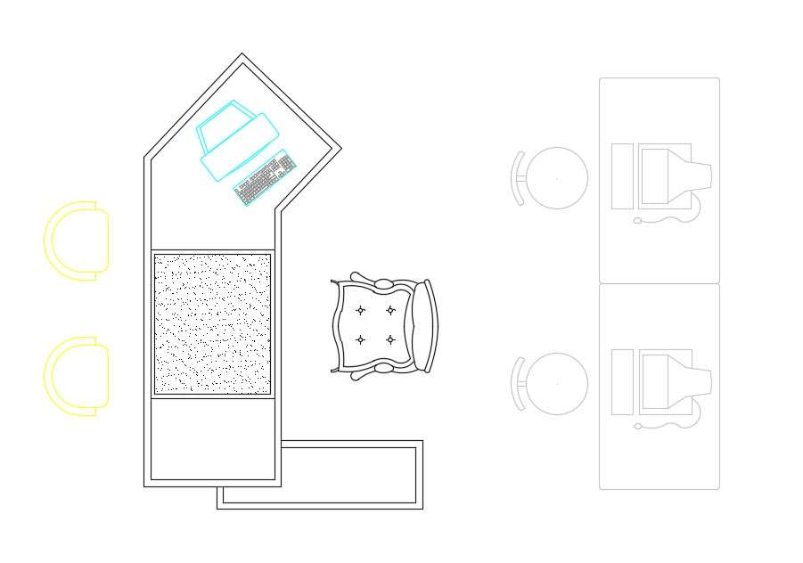 Office Desk Work Table And Chair CAD Blocks Free Download ...