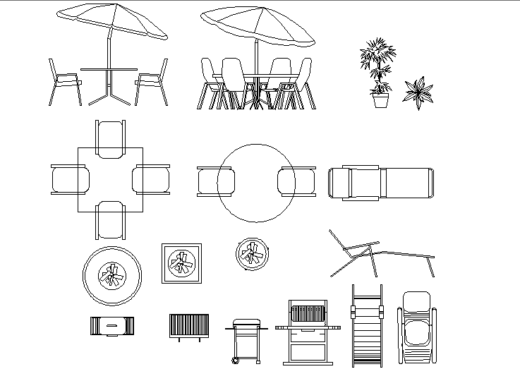 Outdoor Table And Chair Dwg File Cadbull, Outdoor Seating Furniture Cad Blocks