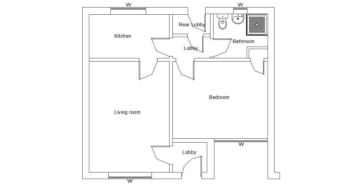 Simple Floor Plan Design Autocad File Free Cadbull