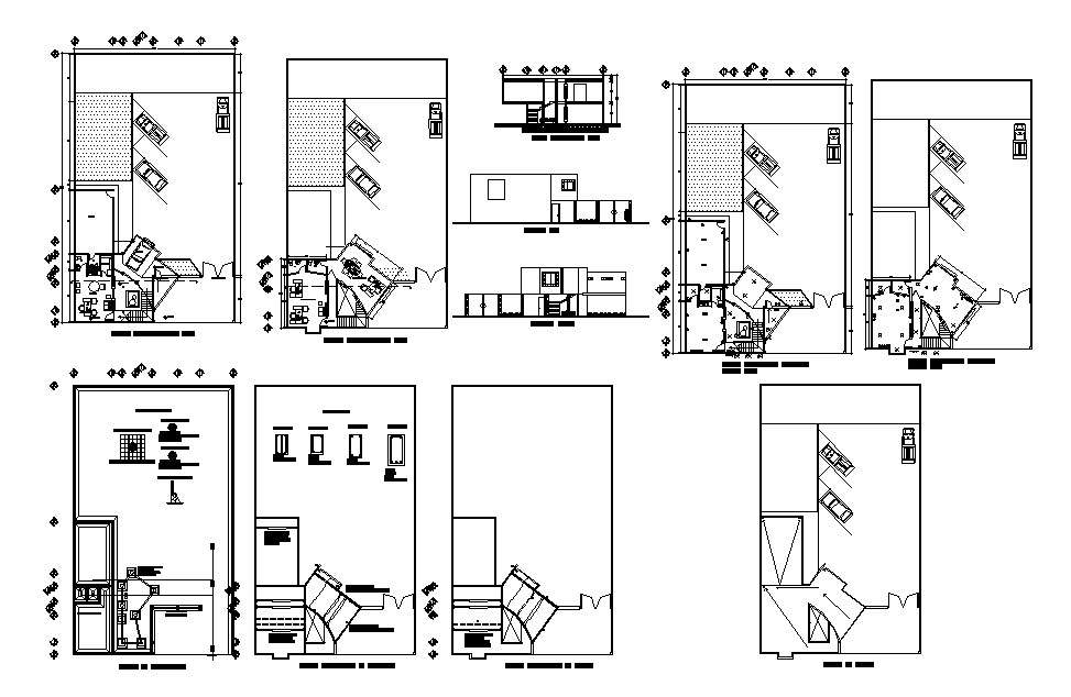 Small Corporate Office Elevation Section Plan And Auto Cad Details Dwg File Cadbull