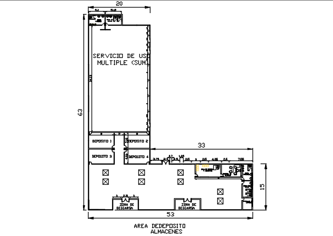 Small Office Building Plan Detail Dwg File Cadbull