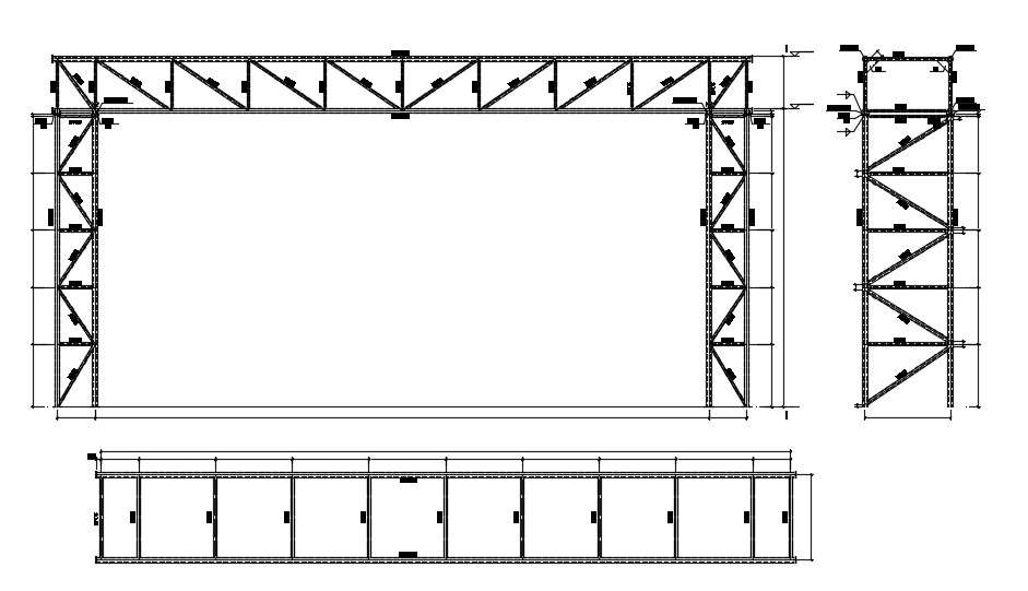 Steel Roof Truss Design Cad Drawing Download Cadbull