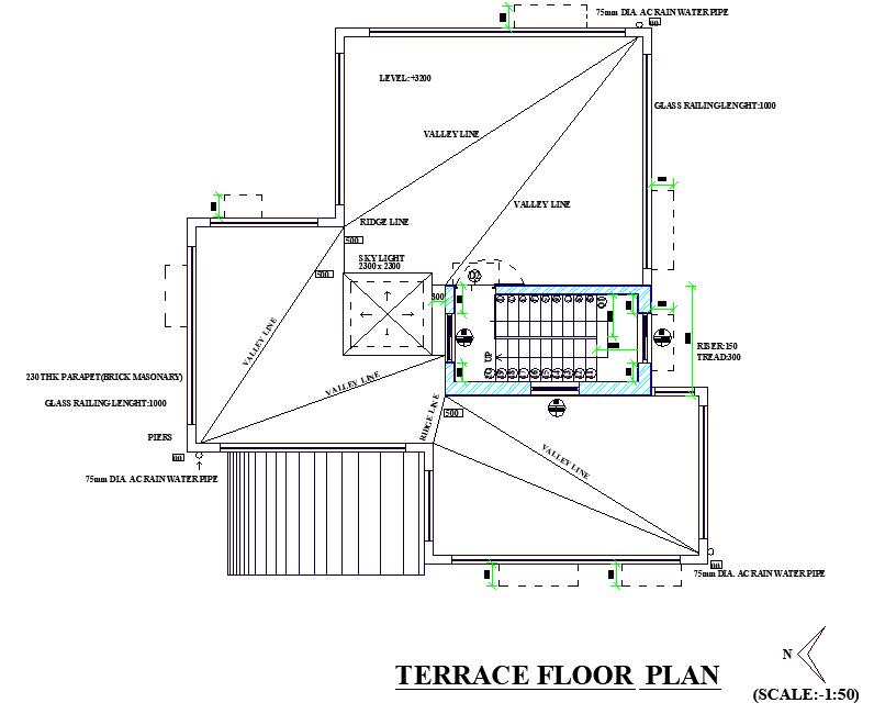 Terrace Floor Plan Layout File Cadbull