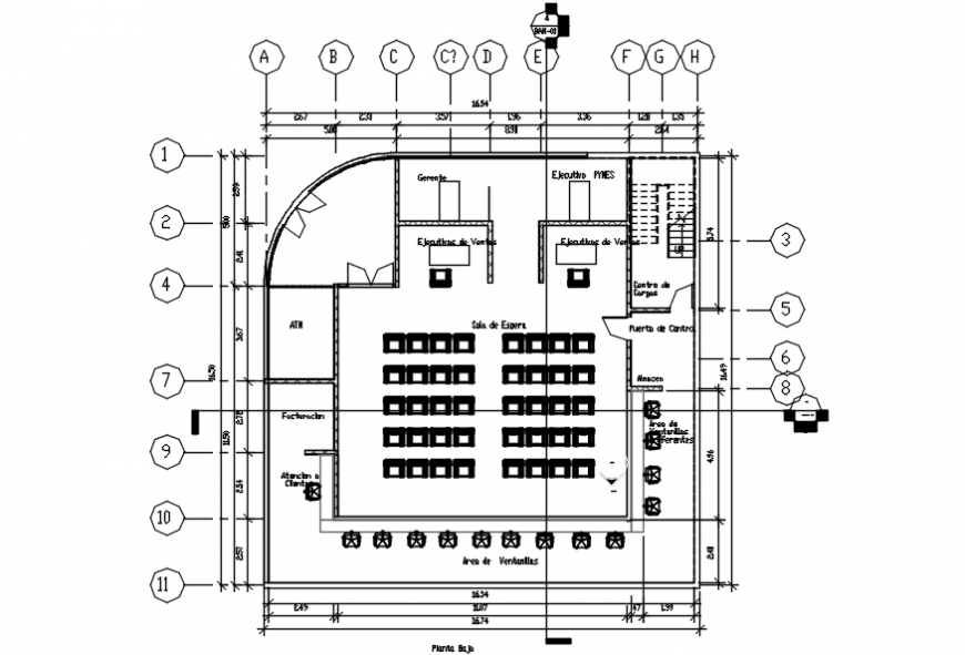 Banking Branch Ground Floor Layout Plan Cad Drawing Details Dwg File Cadbull