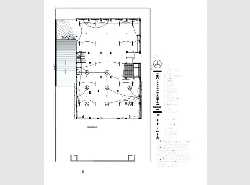Basement Floor Electrical Layout Plan Details Of House Pdf File Cadbull