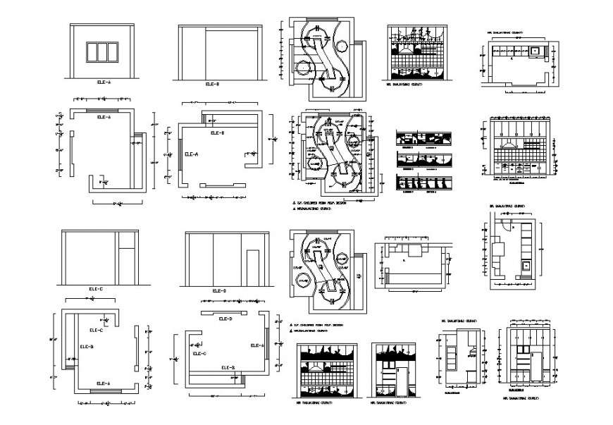 Children Bedroom Ceiling Plan And Furniture Cad Drawing Details Dwg File Cadbull