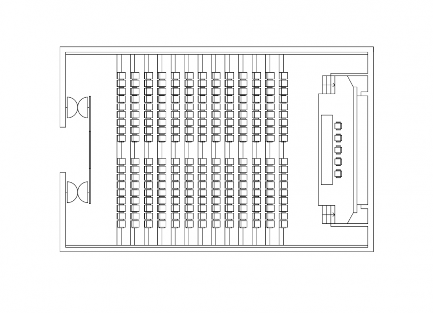 Conference Room Top View Layout Plan Design Details Dwg File Cadbull