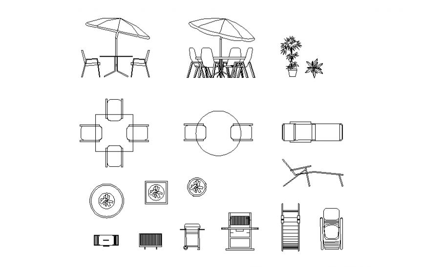 Dynamic Outdoor Furniture Blocks Cad, Outdoor Seating Furniture Cad Blocks